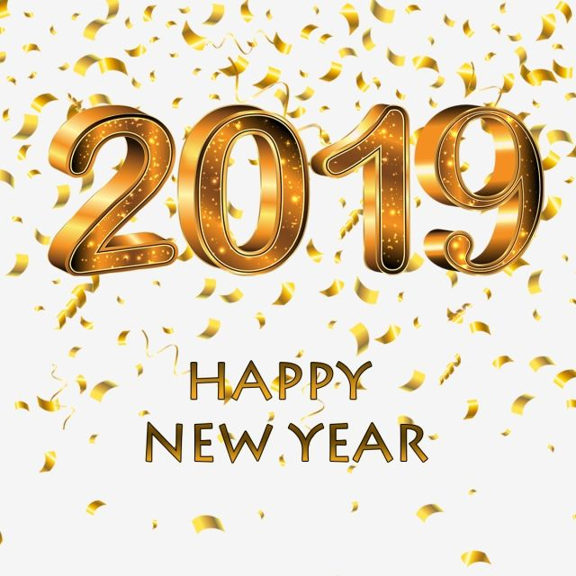 Happy New Year 2019 Golden Pictures Happy New Year Png Transparent Clipart Image And Psd File For Free Download Happy New Year Png Happy New Year 2019 Happy New Year Images