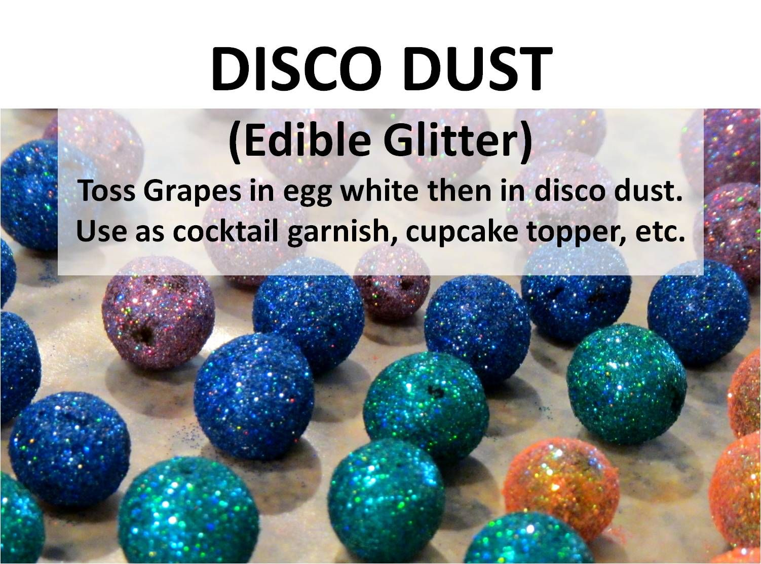how to use edible glitter on cupcakes