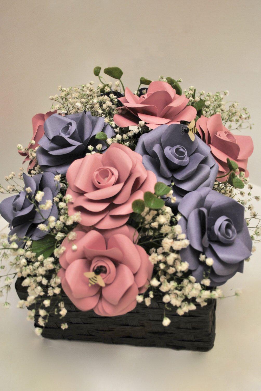 Paper Centerpiece Paper Flower Centerpiece Wedding Centerpiece