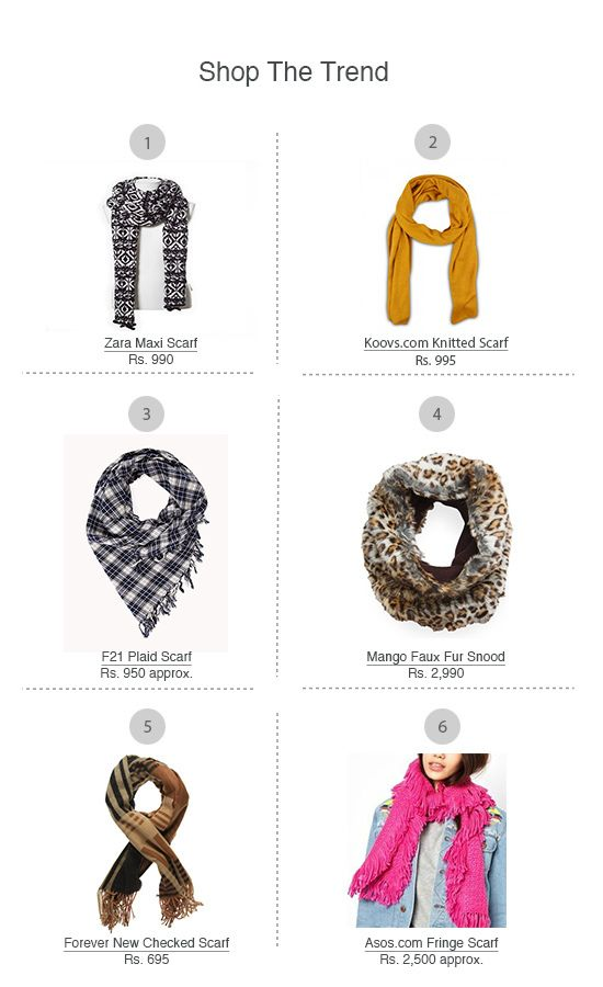 Scarves: These easy-to-wear neck pieces add a roomy, oversize glam to your Winter wardrobe. Whether thick and chunky, big and blankety, or printed an...