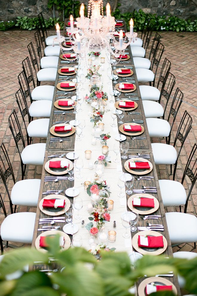 wedding reception decoration long tables - Wedding Reception Table Decorations