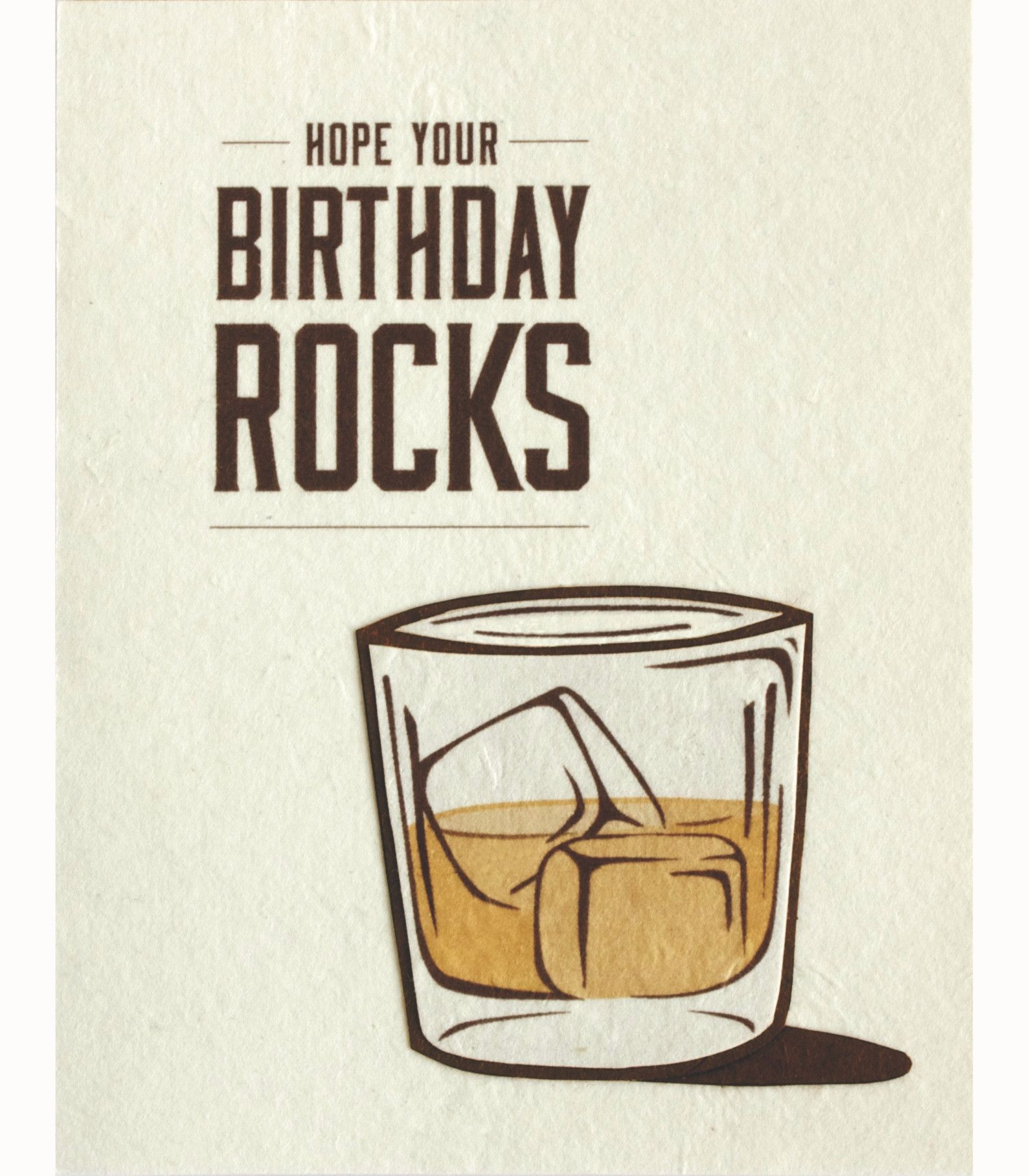 Birthday Rocks Handcrafted Greeting Card Good Paper Happy