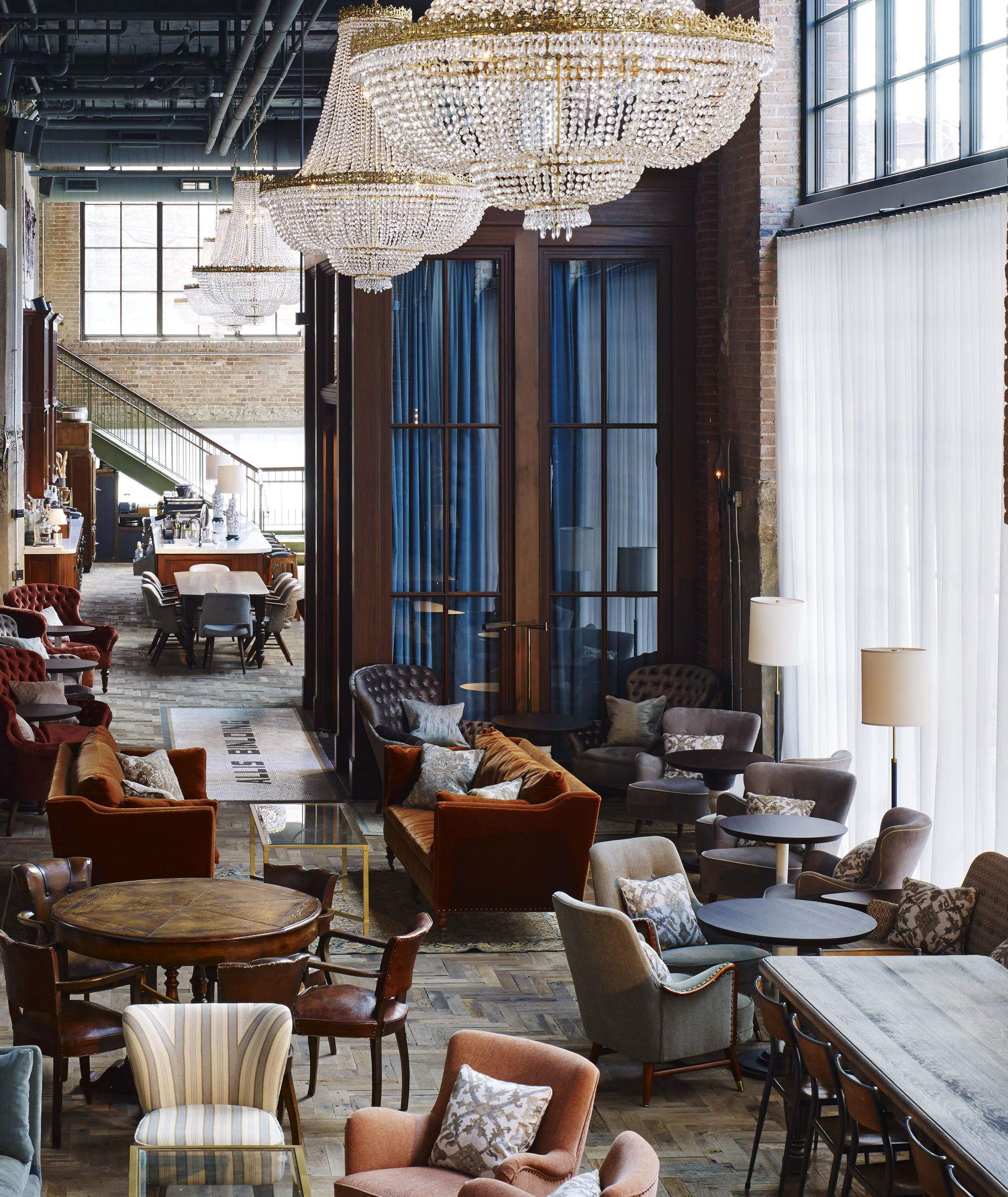 SoHo House Chicago Allis love the round tables uld go well