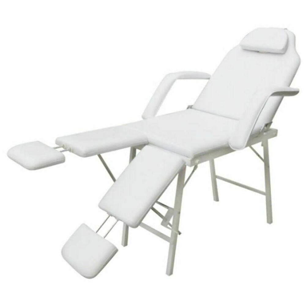 Vidaxl Fauteuil De Podologie Blanc Creme Chaise Pliante Fauteuil Esthetique Massage Table Nursing Chair Massage Chairs