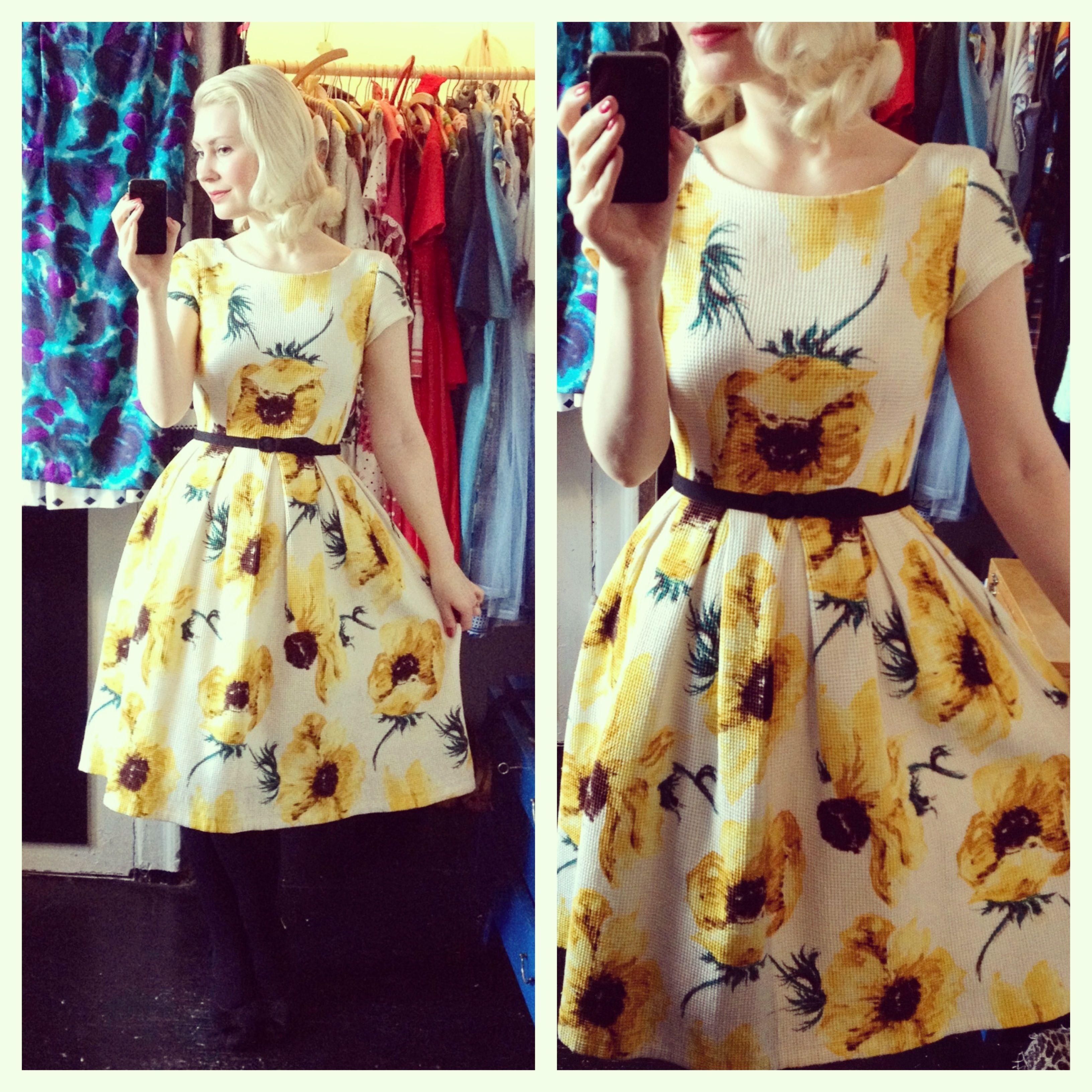 S vintage summer dress ormsmagasin my vintage