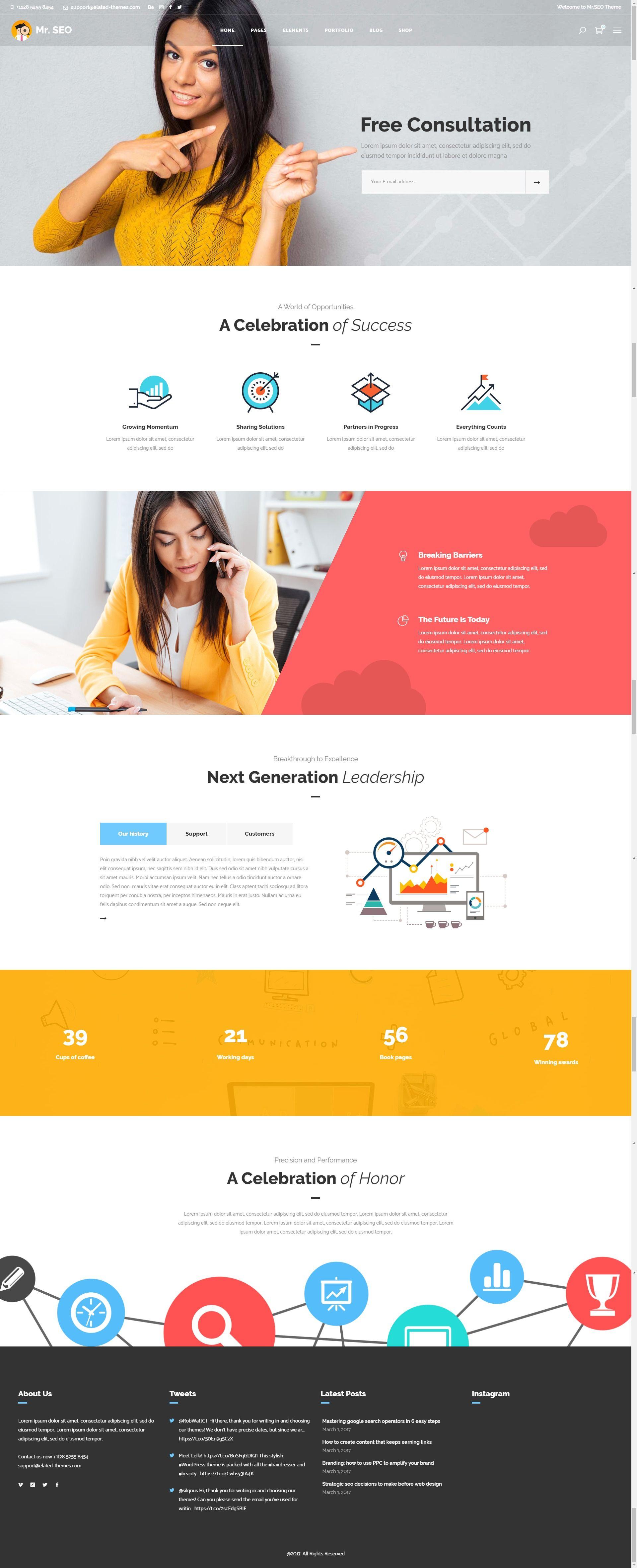 Mr Seo Seo Marketing Agency And Social Media Theme Stylelib In 2020 Agency Website Design Marketing Agency Website Seo Website Design