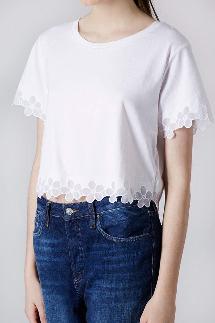 Vantage - Daisy Print White Organza Top, £18.00 (http://www.vantagefashion.co.uk/daisy-print-white-organza-top/)