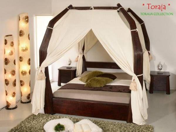 Schlafzimmer Bambus ~ Bambus himmelbett toraja kastanienbraun bambusmöbel für dein