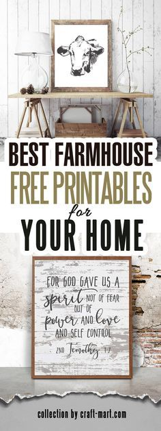 Our team browsed hundreds of free and not-so-free farmhouse printables and came up with a collection of BEST FREE FARMHOUSE DECOR PRINTABLES available. #freeprintable #farmhousedecor 100 plus Free farmhouse decor printables! Why you are still reading this? Go and download FREE printable vintage farmhouse wall art!!! Includes vintage floral printables, animals and more... #printables #modernfarmhouse