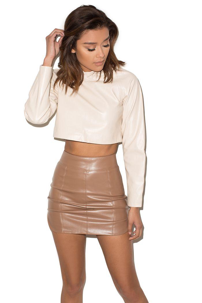 22a9913ec8 Undercover  Brown Vegan Leather Mini Skirt - Mistress Rocks ...
