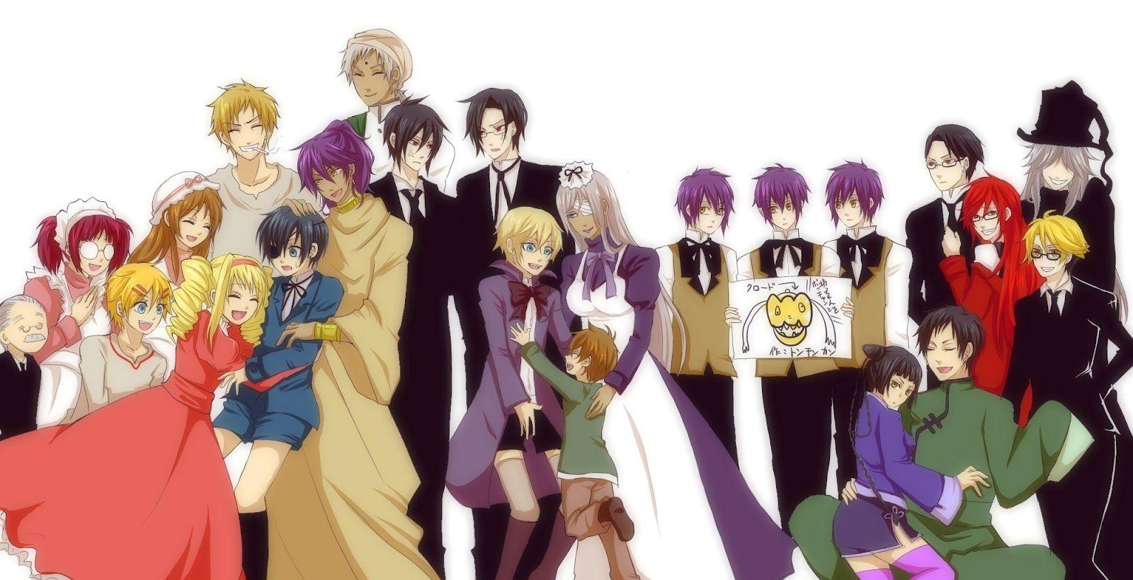 Фото аниме темный дворецкий все персонажи