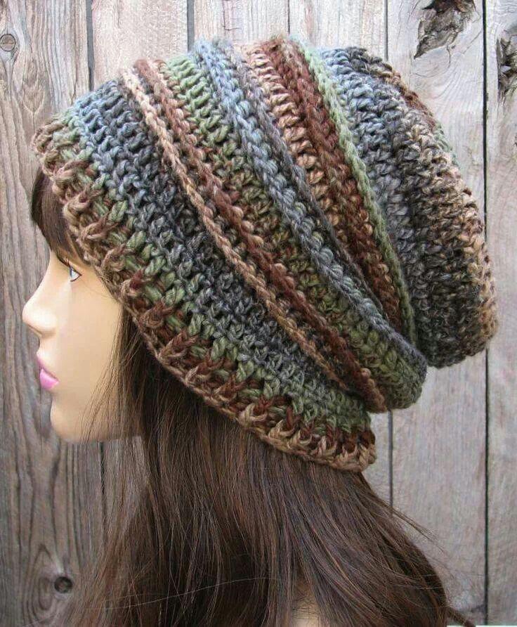 Sin patron | Hats & Wigs | Pinterest | Crochet, Crochet slouchy ...