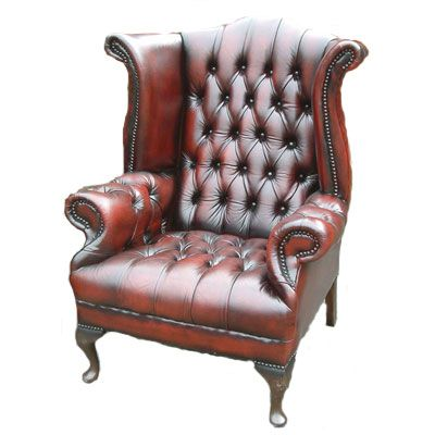 Wing Back Chair (Chesterfield Style)