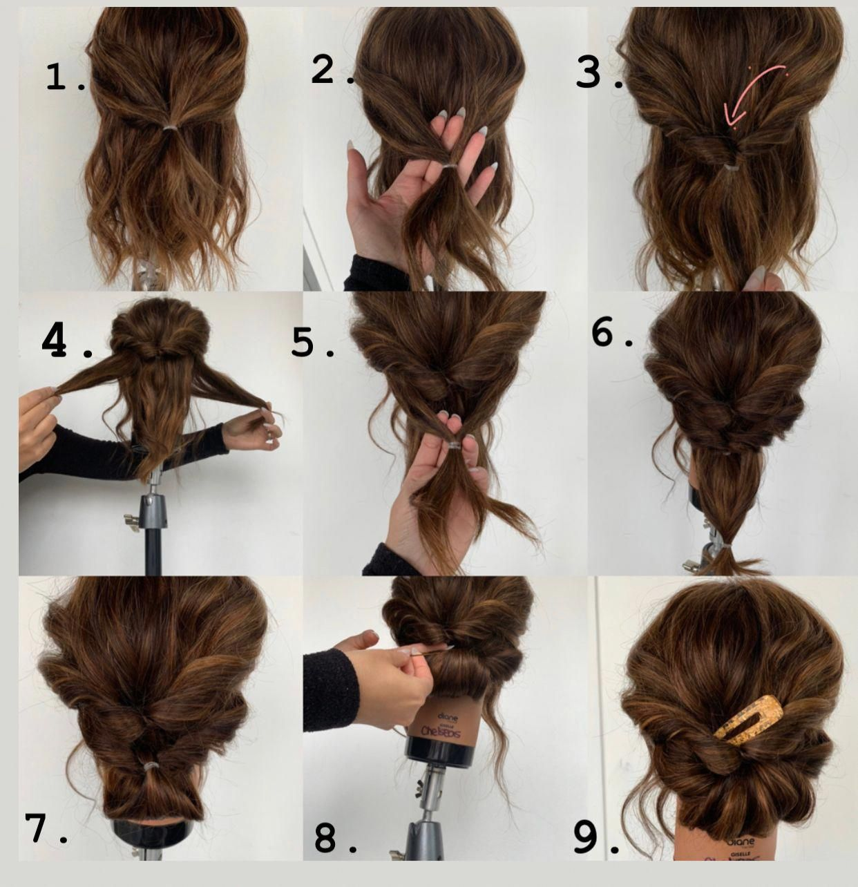 Easy Hairstyle Tutorial Pictorial for Christmas Party or New Years