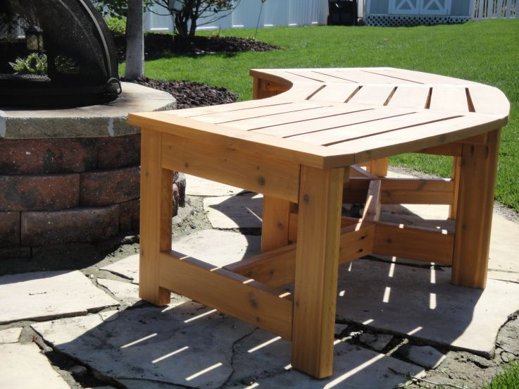 Beautiful Curved Fire Pit Bench from KregJigng Outdoor Wooden Elegant - Simple outdoor wood bench plans Ideas