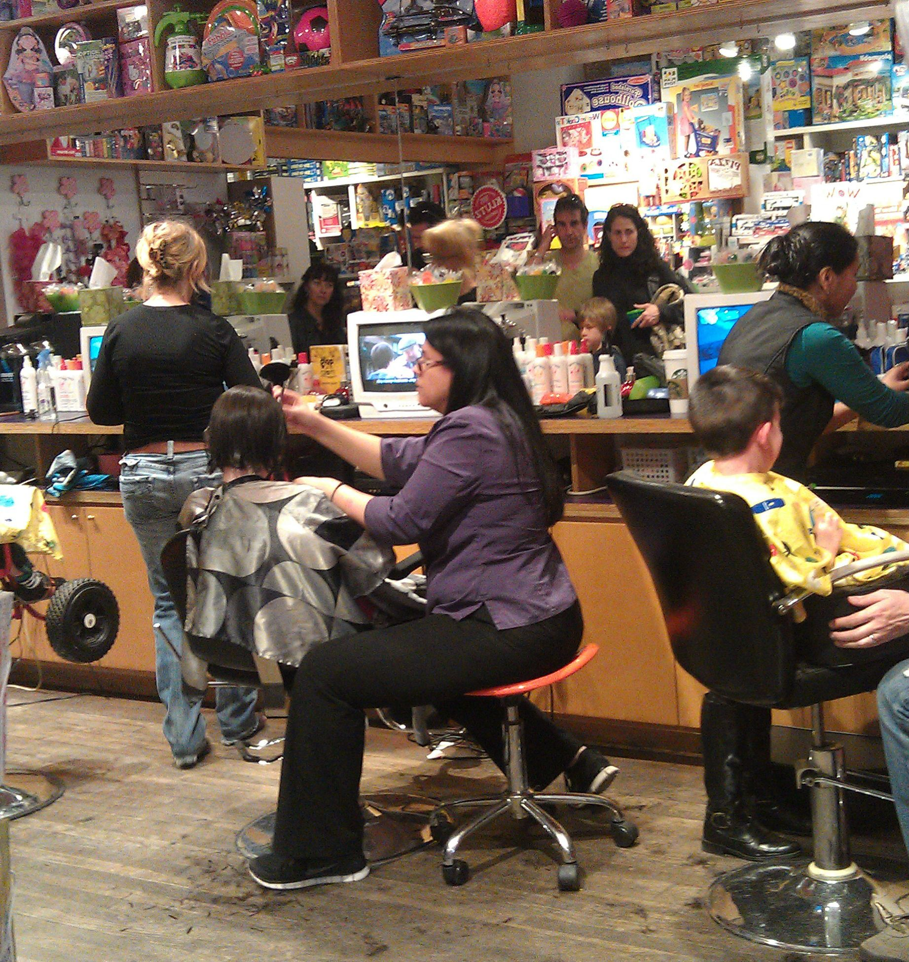 Our Salon On A Busy Sunday Morning Lulus Cuts And Toys Toy Store