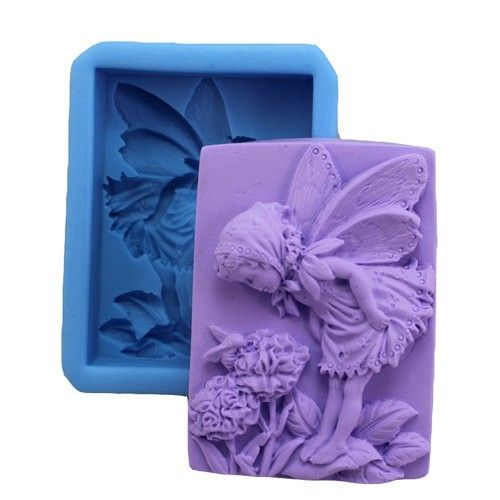 Fairy Smell Flower S023 Silicone Soap mold Craft Molds DIY Handmade soap mould