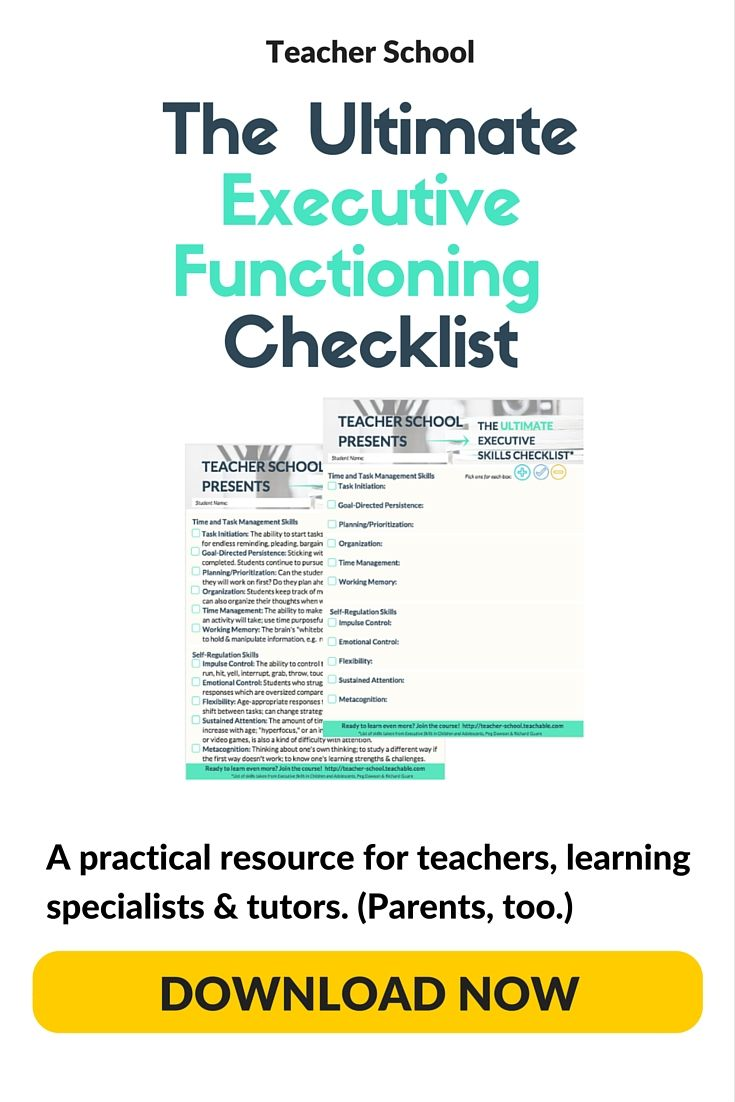 Does Tailoring Instruction To Learning >> Use These Executive Functioning Checklists To Track Students