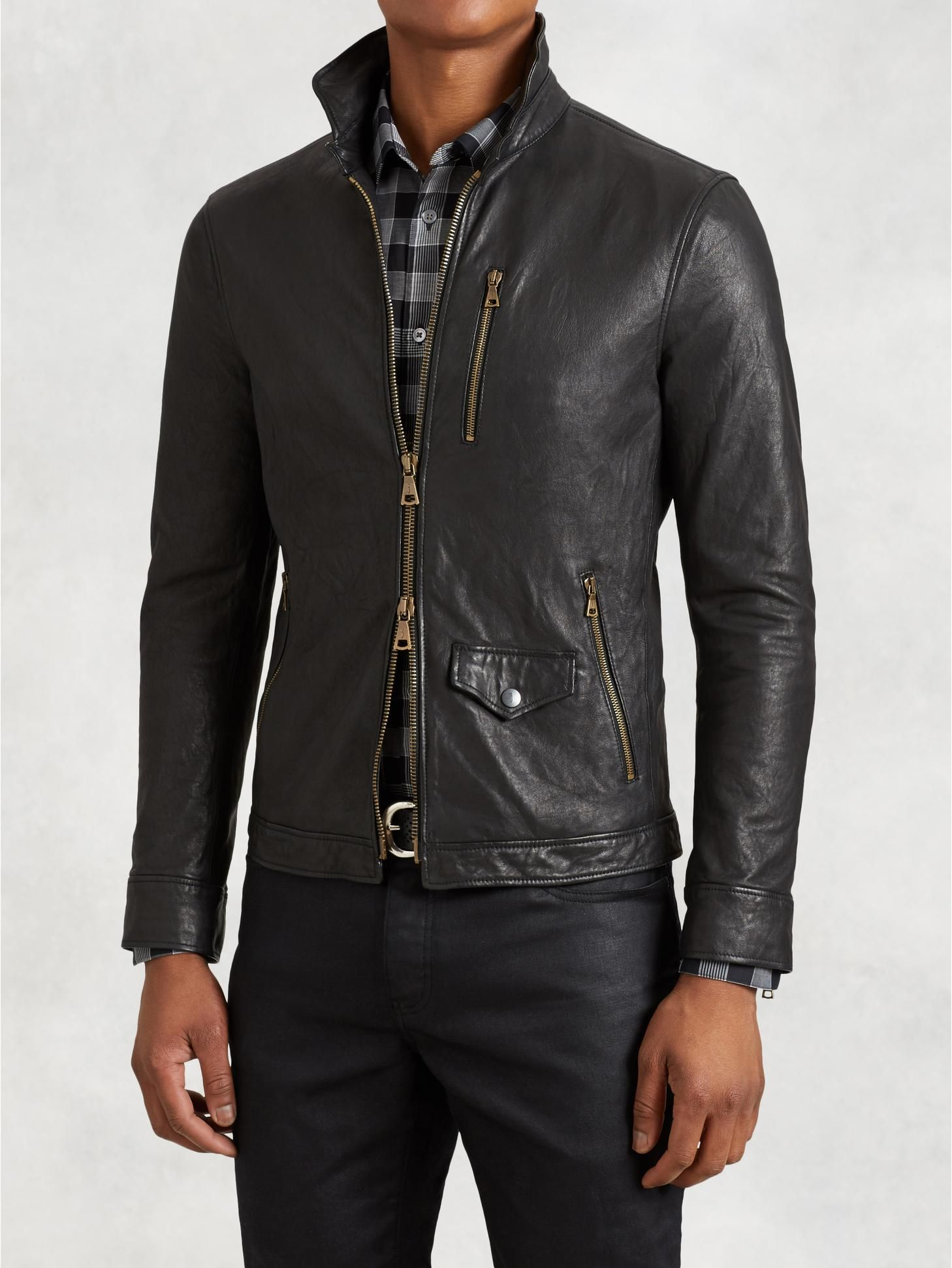 Wire Collar Leather Jacket Leather Jacket Men Leather Jacket Collar Leather Jacket [ 1941 x 1458 Pixel ]