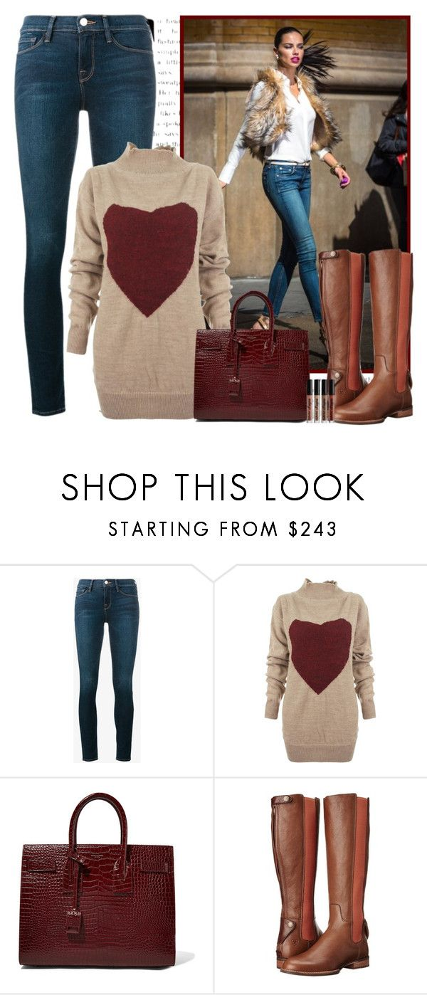 """Casual Christmas"" by rachel ❤ liked on Polyvore featuring Frame, Vivienne Westwood Anglomania, Yves Saint Laurent, Ariat and NYX"