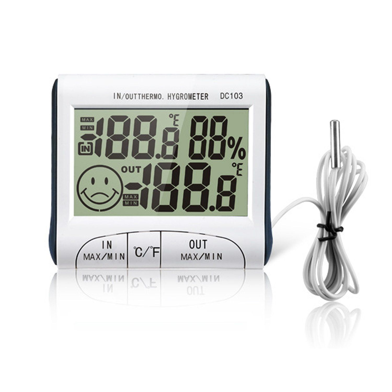 eBerry® Digital Indoor Outdoor Thermometer Humidity Meters ...