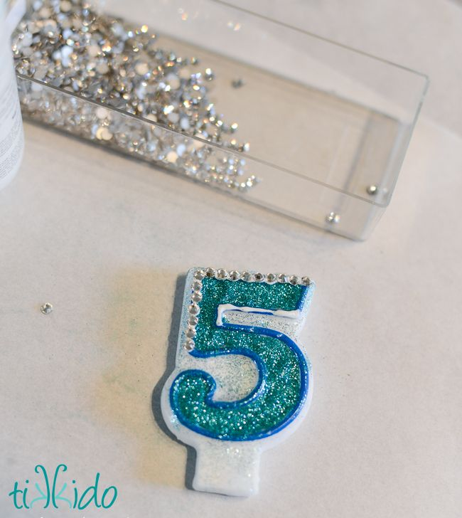 Customized Embellished Number Birthday Candle | Glitter ...
