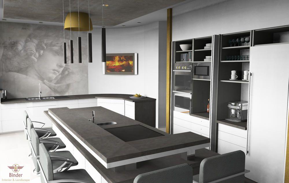 Küche Mit Kochinsel Und Bar | cuppazu.com