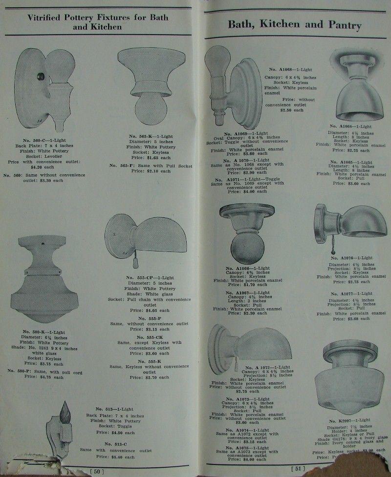 1920 GE light fixture catalog | Antique light fixtures ...