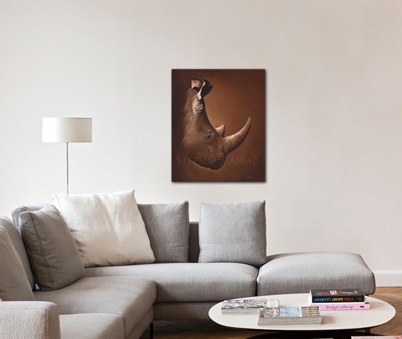 Idées Décoration, peinture Rhino, afrique