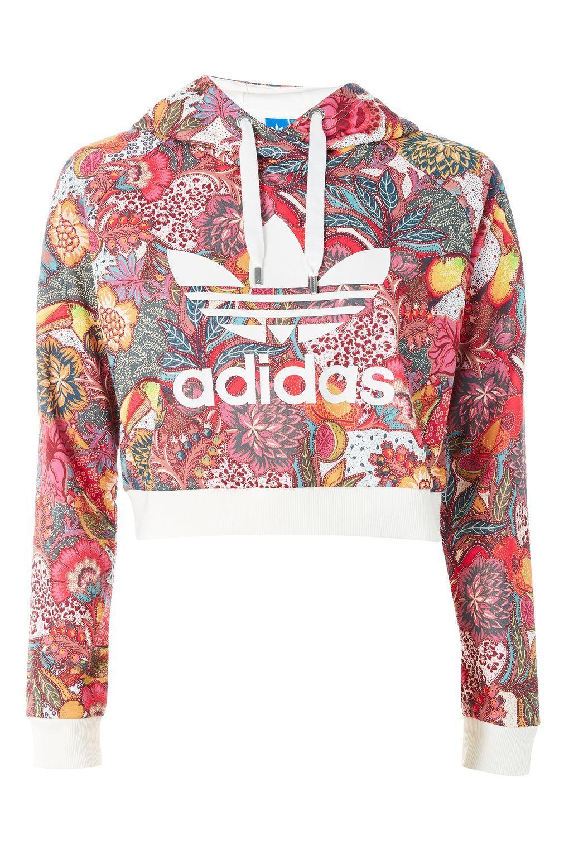 Floral Hoodie By Adidas Originals Sweatshirt Fashion Floral Hoodie White Hooded Sweatshirt [ 1530 x 1020 Pixel ]