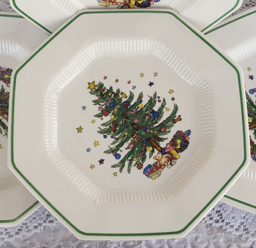 Vintage Set of 5 Nikko Christmastime Dinner Plates Holiday Christmas ...