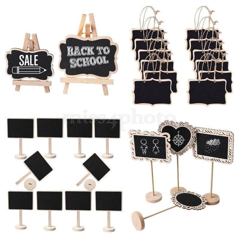 and Decoration MyGift Set of 12 Mini Erasable Chalkboard Signs//Food Labels for Wedding Party