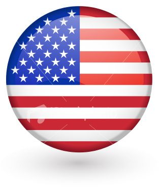 US flag vector button Royalty Free Stock Vector Art Illustration