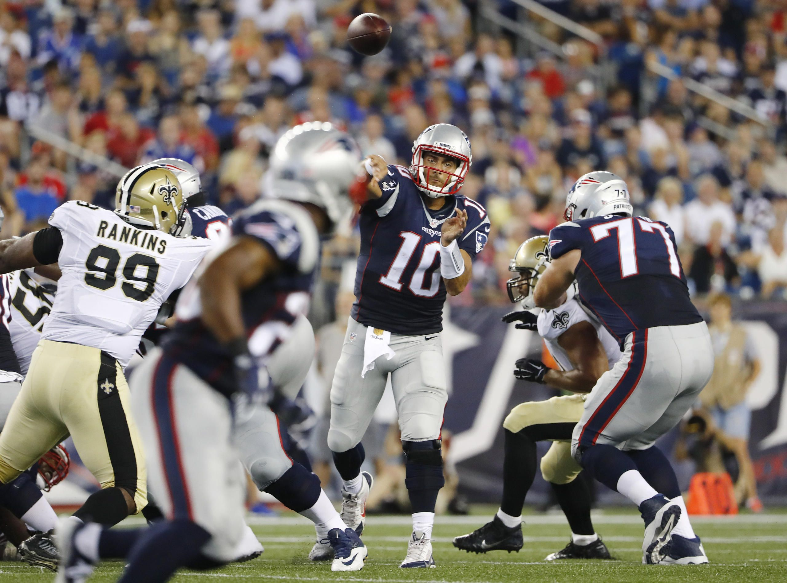 All The Highlights From The Patriots Saints Preseason Game Football New England Patriots Patriots