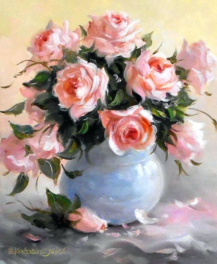 Floral Oil Paintings Painting Of Flower Bouquet Tumblr – LivHawaii ...