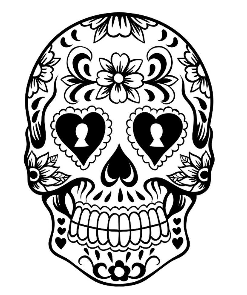 Day of the dead sugar skull coloring pages | Kids Colouring Pages ...