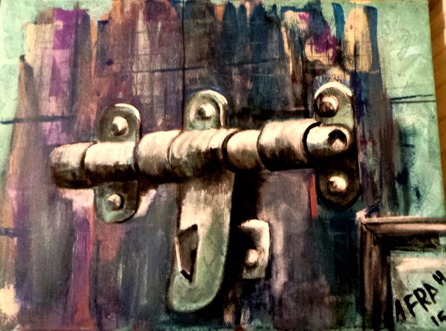 نيمت المطرة بعشوش المشمشة وحيل جريتك على الأيام ياسرگي خشب النواب سركي باب قديم ارجو ان يعجبكم اكرلك على كنفس 30 40 سم Art Painting Painting Art