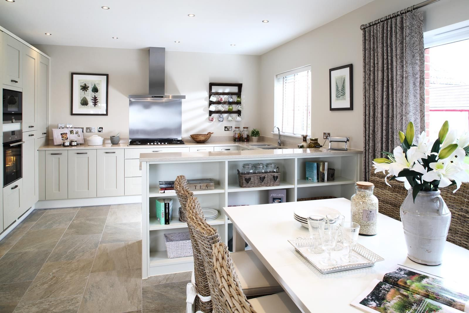 Create a fresh look in your kitchen with simple stone inspired hues ...