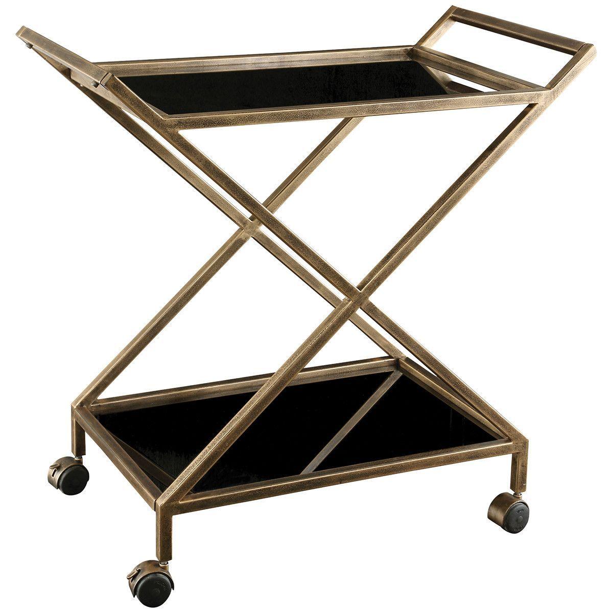 Uttermost Zafina Gold Bar Cart   Home   Pinterest