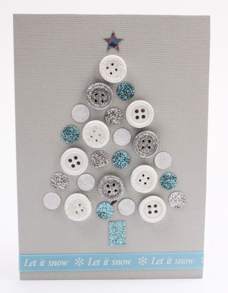 How to Make a Button Tree Christmas Card | Cards/ Christmas ...