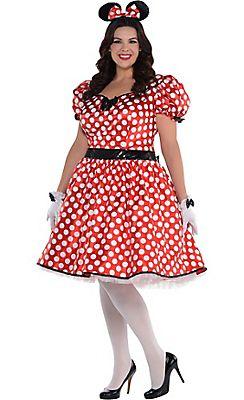 c3e323eb1db3f Adult Sassy Minnie Mouse Costume Plus Size