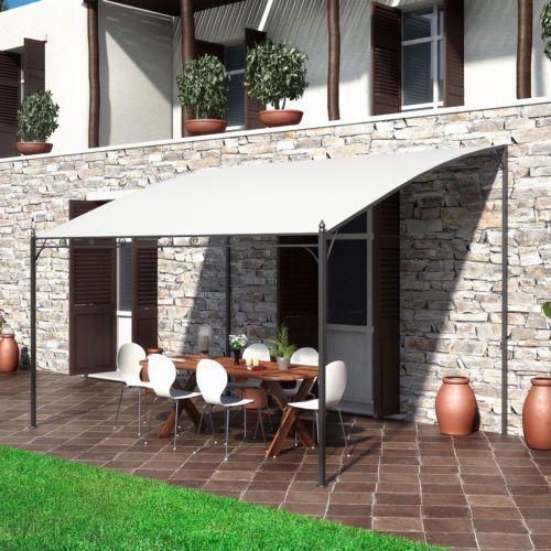 Gazebo Pergola In Ferro 4x3 Giardino Ideale Per Esterno Con Telo