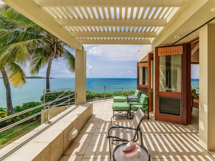 Strandhaus karibik holz  Holz Überdachung in creme lackiert | Terrasse | Pinterest ...