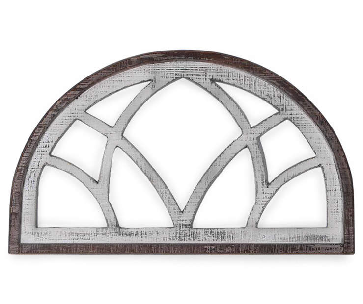 Brown Whitewash Arched Wall Decor In 2020 Arched Wall Decor Above Door Decor Above Window Decor