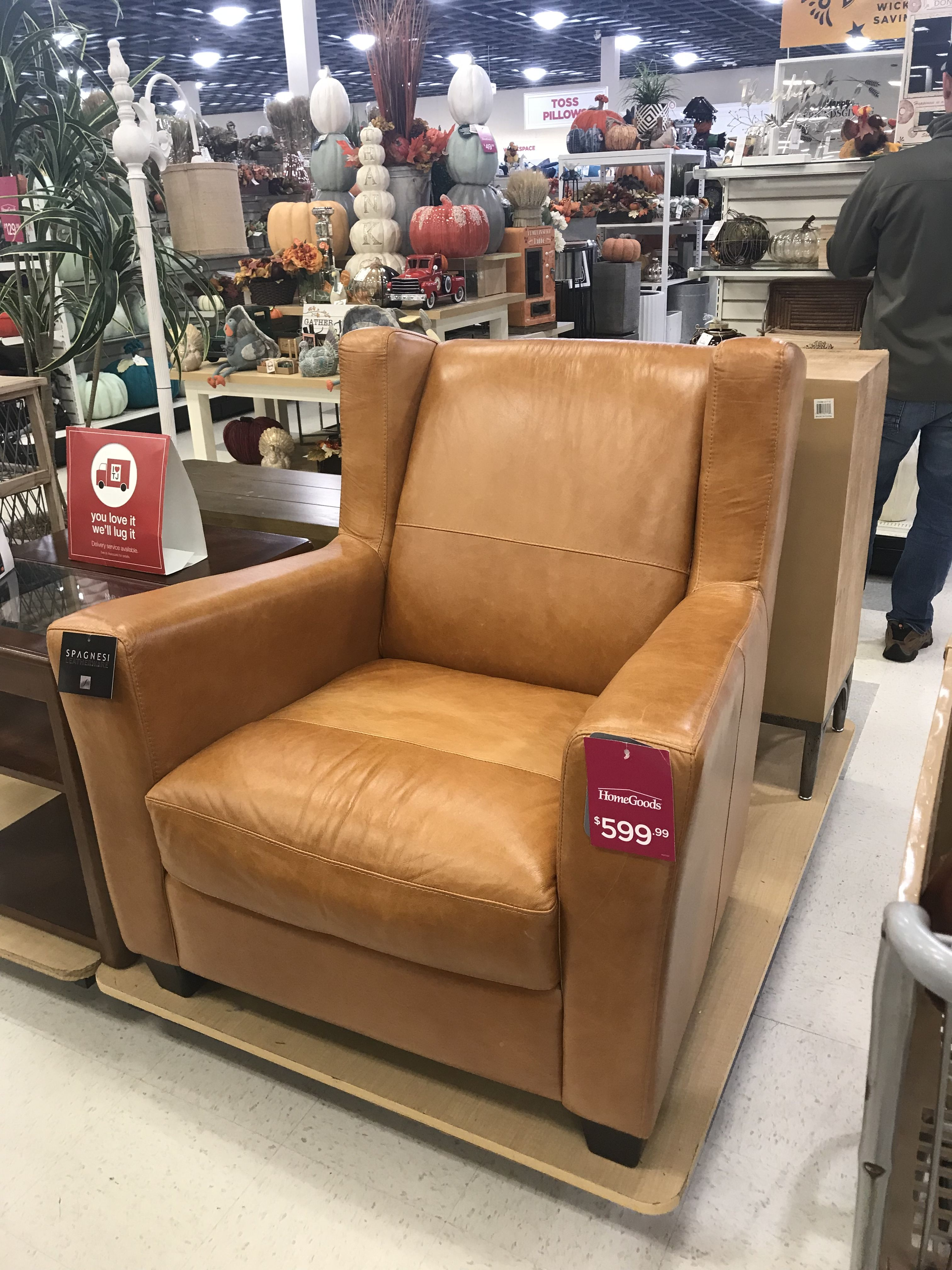 spagnesi leather chair