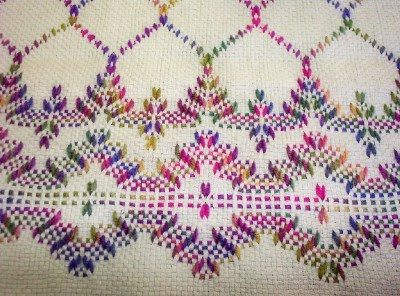 swedish weaving club candy s lap afghan hucking pinte