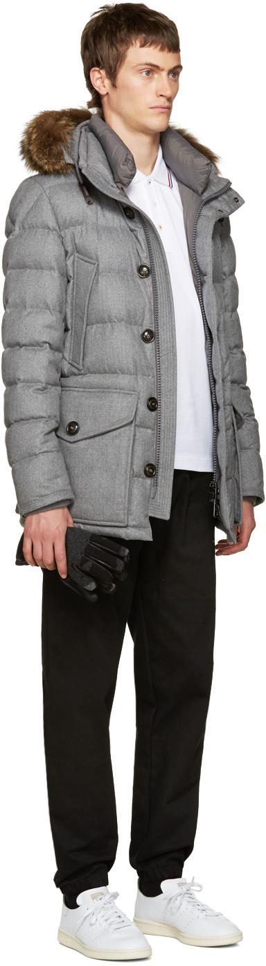 Moncler Grey Down Rethel Jacket Jackets, Moncler