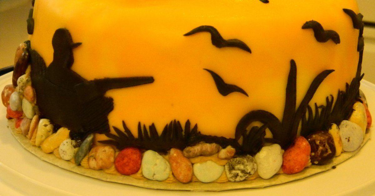 Duck Hunter Silhouette Cake   Cakes - Hunting   Cake ...