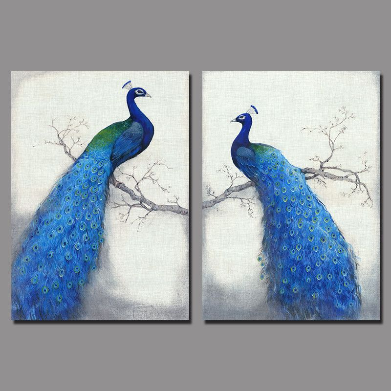 Cheap Canvas Bird Paintings Buy Quality Art Pictures Directly From China Suppliers Retro Blue Peacock Children Living Room Kids