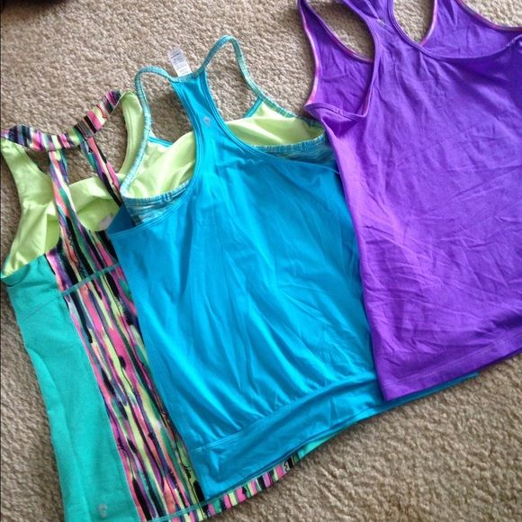 3 Ivivva tops athletic tops girls sizes made by lululemon all like new lululemon athletica Tops Tank Tops